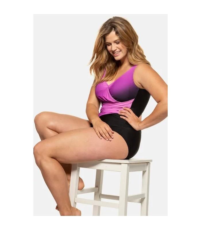 purple and black swimsuit
