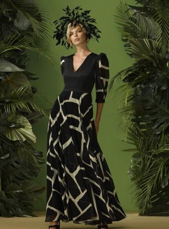 Vestido largo estampado de Carla Ruíz