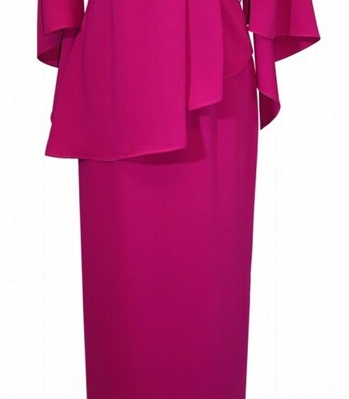 Carla Ruiz long straight cut dress