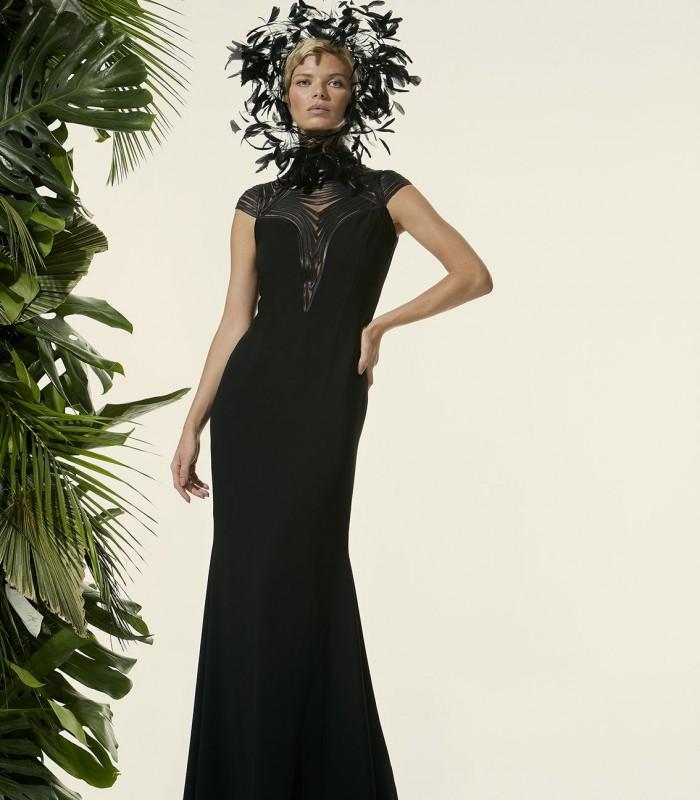 Carla Ruiz long mermaid cut dress