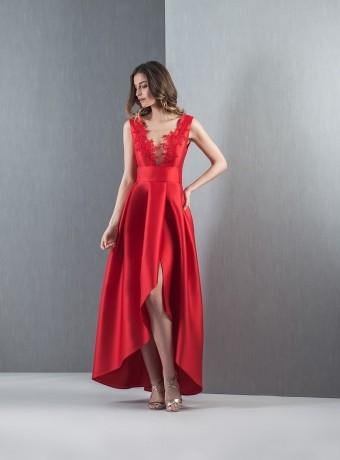 Vestido asimétrico espalda descubierta