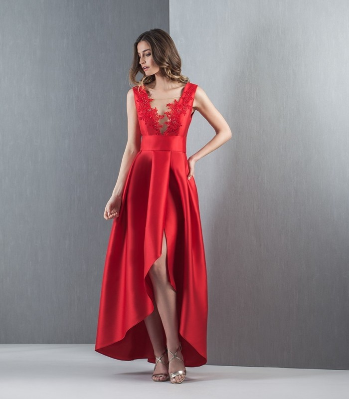 Asymmetric backless dress
