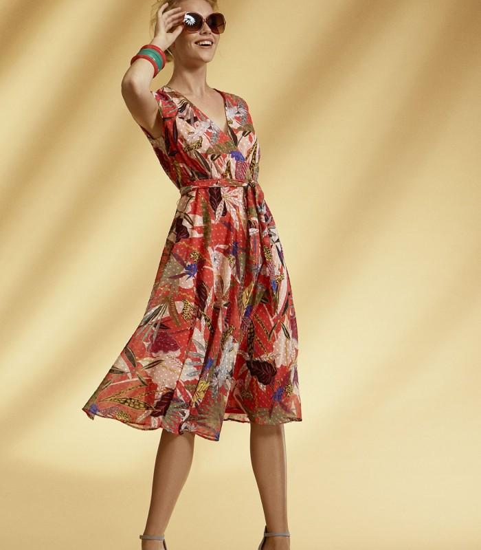 Arggido print midi dress