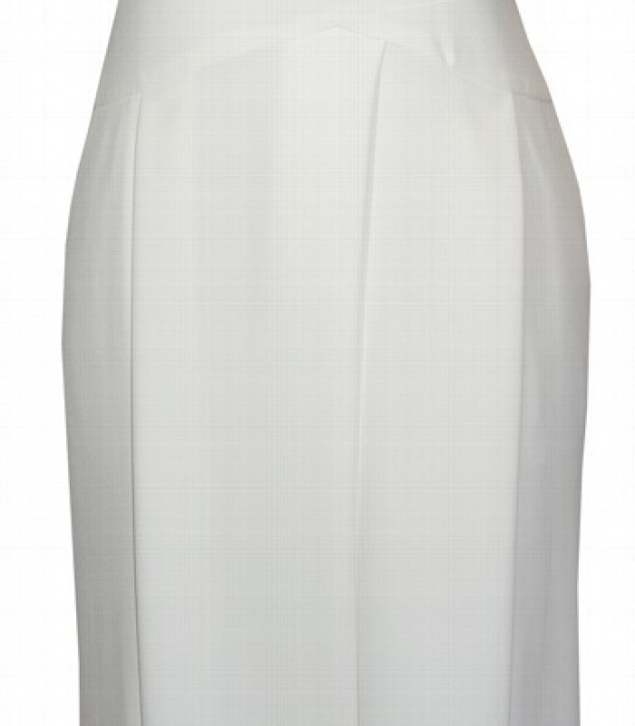 White jumpsuit with crossed neckline