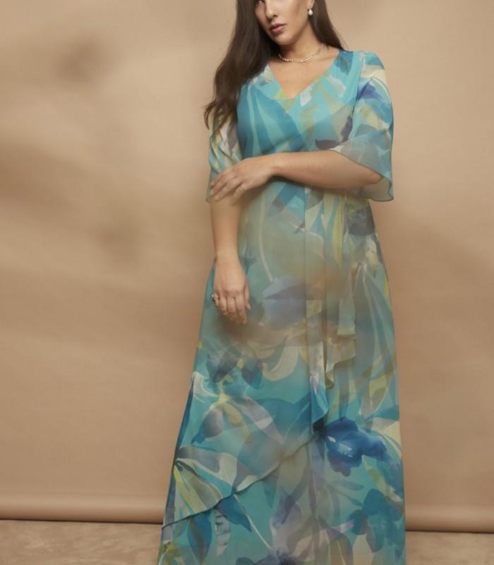Breeze print long dress