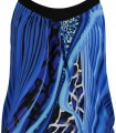 Graphic print tankini with black panty