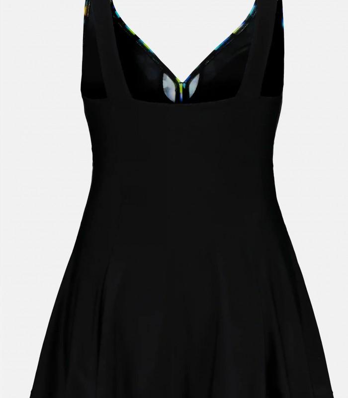 Bañador estampado y negro con falda