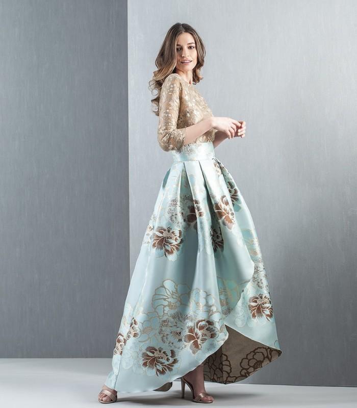 Moncho Heredia Asymmetric Board Midi Skirt