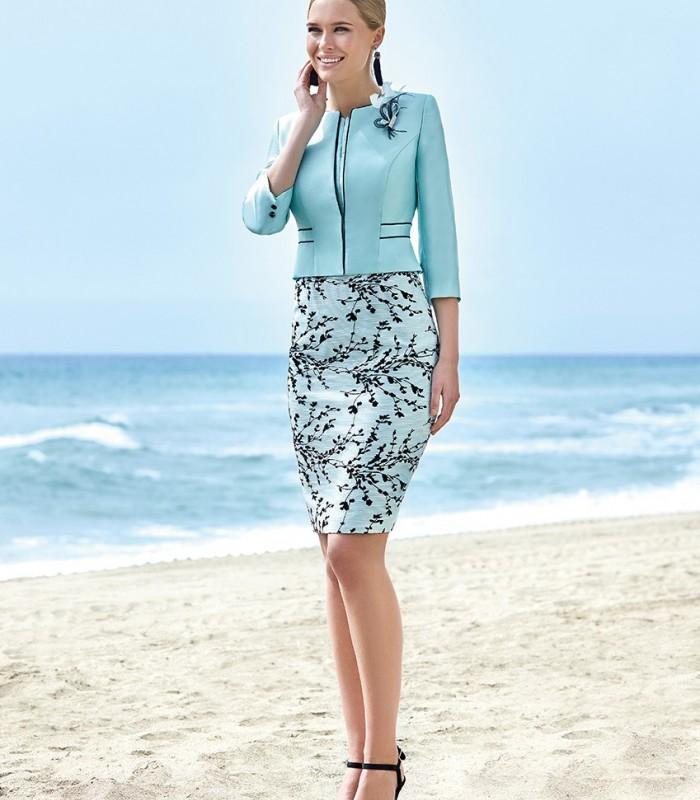 Jacket and short straight dress set