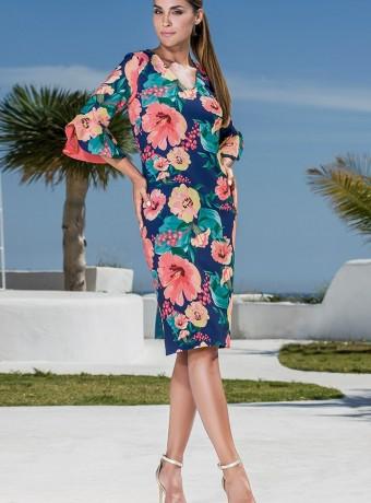 Olimara floral print dress