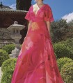 Vestido largo estampado floral de Olimara