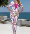 Olimara floral print suit