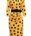 Vestido corto de lunares fondo amarillo