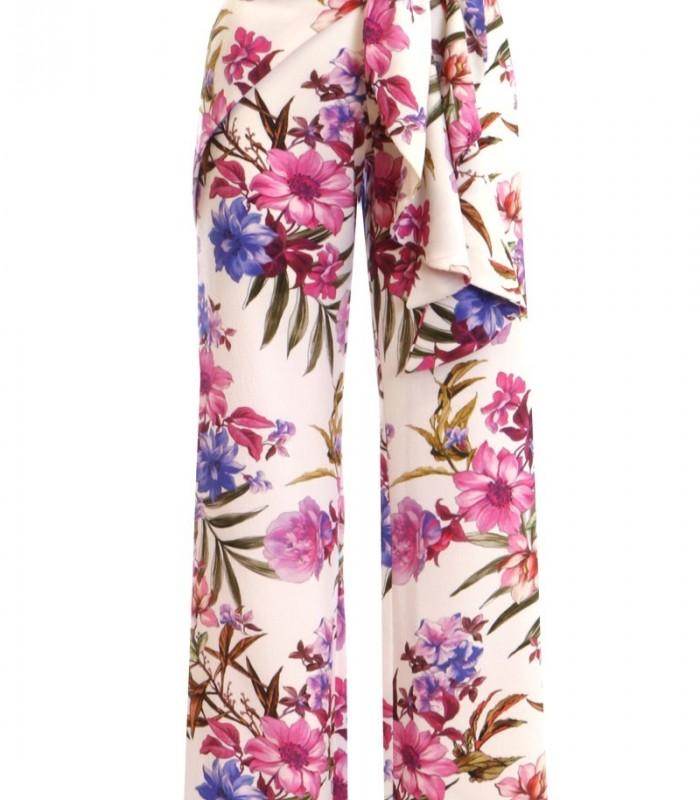Pantalón estampado de flores