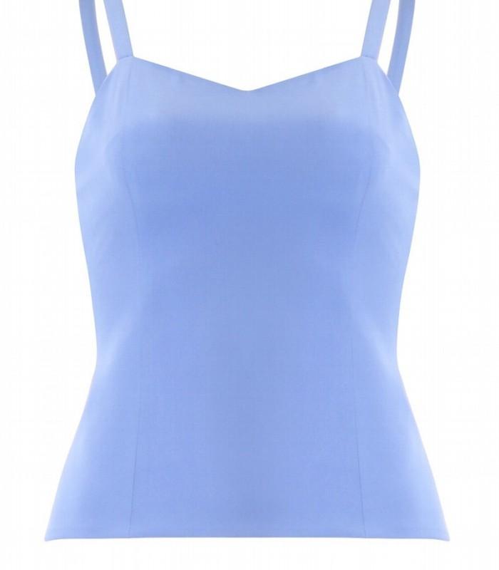 Conjunto top y pantalón azul celeste