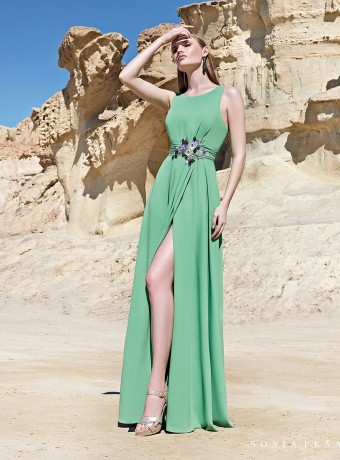 Long dress with side slit Sonia Peña
