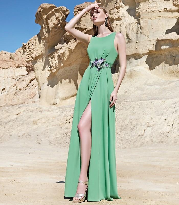 Long dress with side slit Sonia Peña