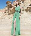 Vestido largo con abertura lateral Sonia Peña