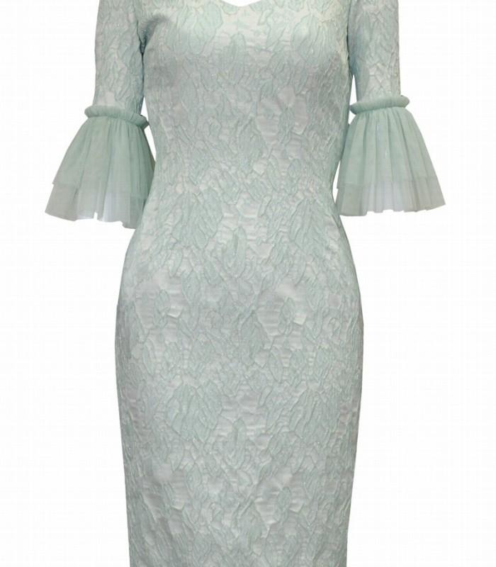 Olimara straight dress with french sleeve