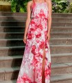 Olimara printed dress with thin handle
