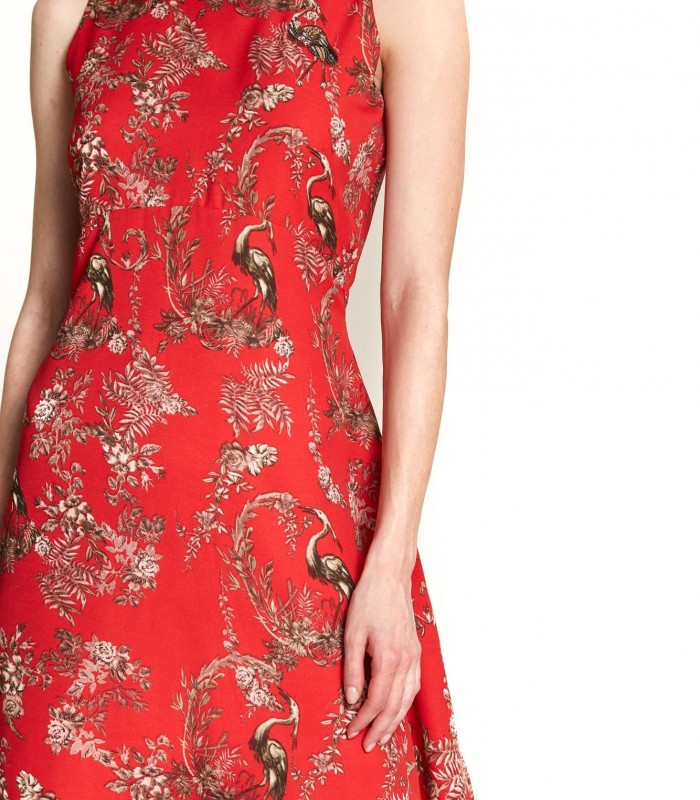 Short sleeved dress print
