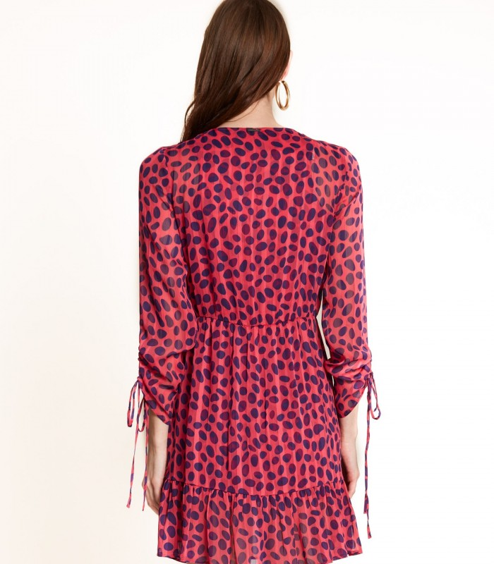 Short printed dress with dots