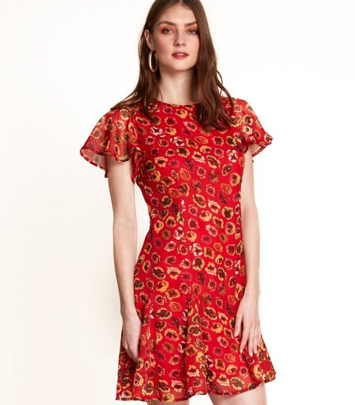 Flowy short printed dress