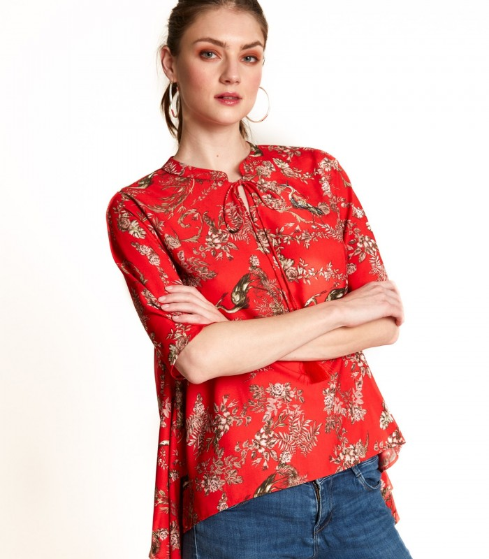 Blouse with mao neck