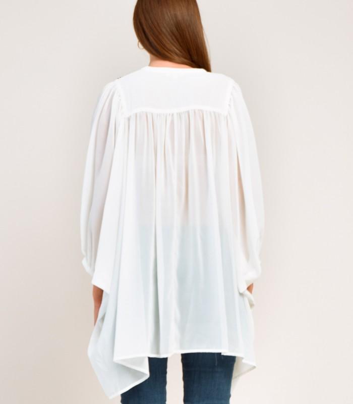 Blusa túnica de corte extragrande