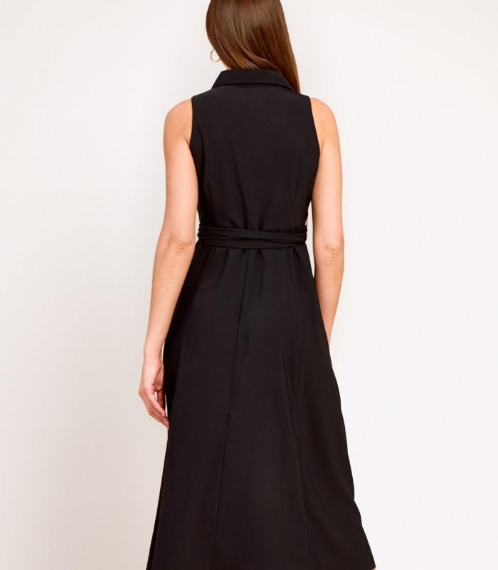 Vestido largo camisero con bordados