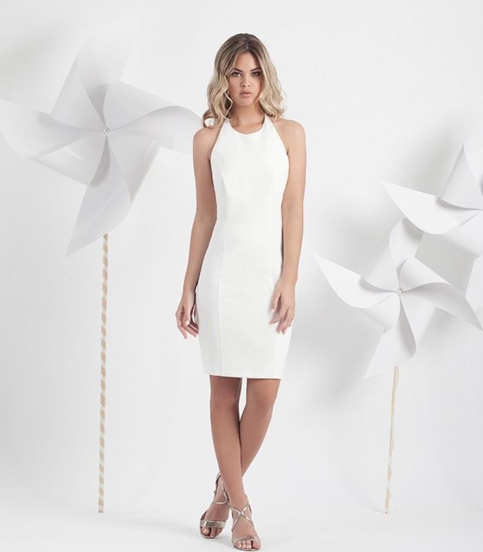 Vestido tira espalda con adorno Floral