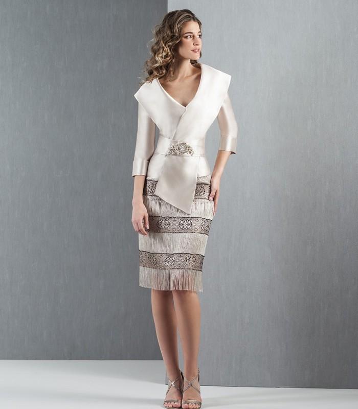 Moncho fringe skirt set