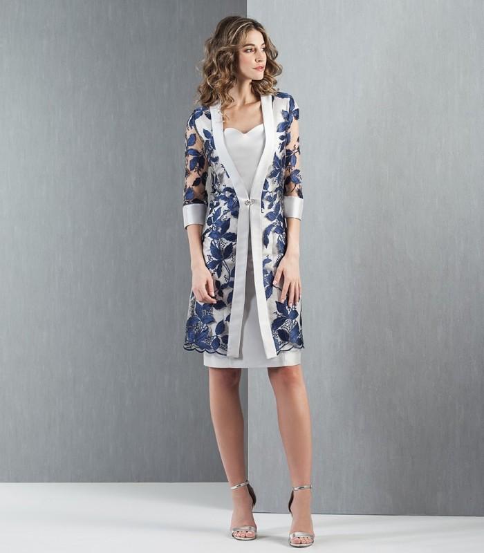 Frock coat and mikado dress