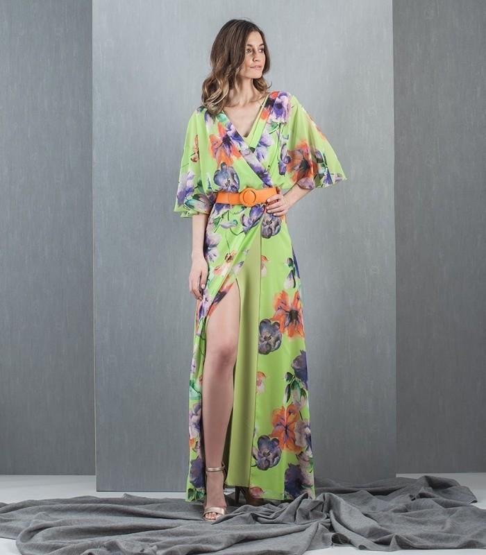 Moncho print wrap dress