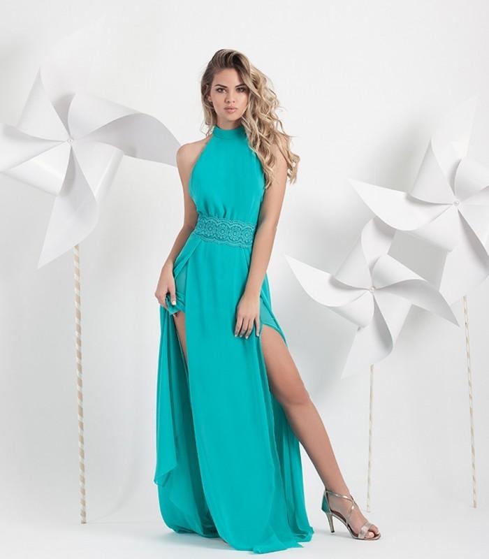 Long dress halter Petit Moncho
