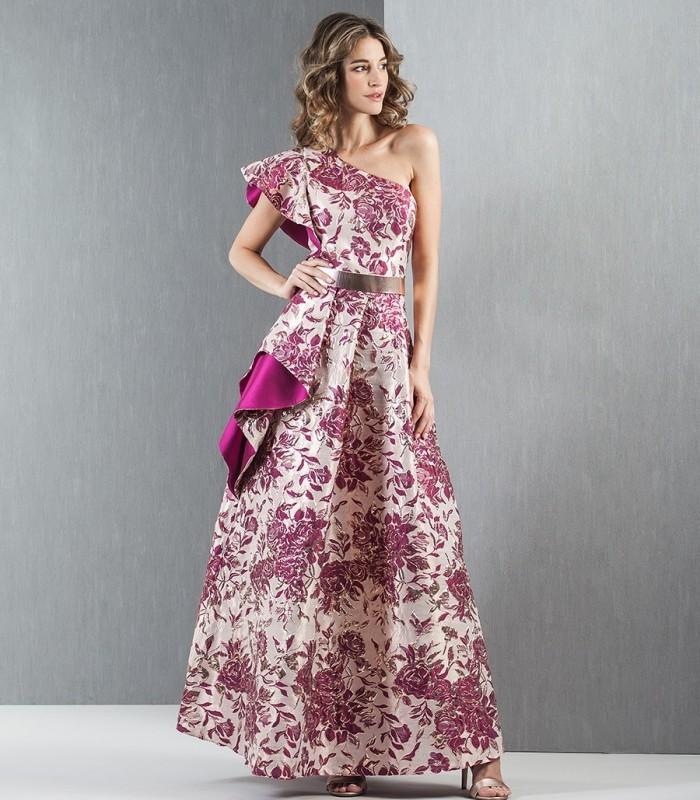 Vestido maxi jacquard Moncho