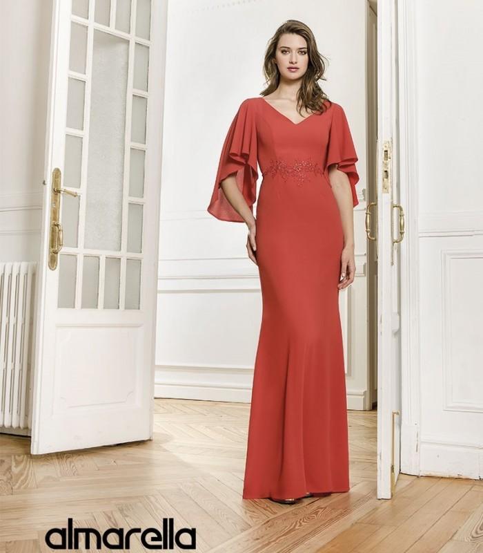 Vestido largo liso Almarella