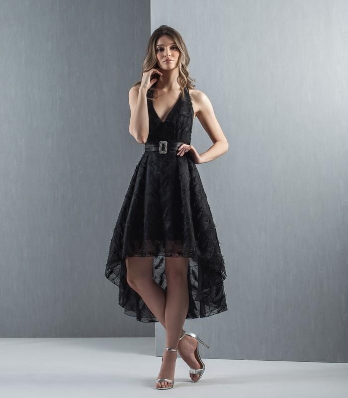 Moncho black lace midi dress