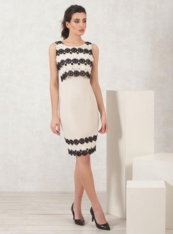 Printed nude short dress