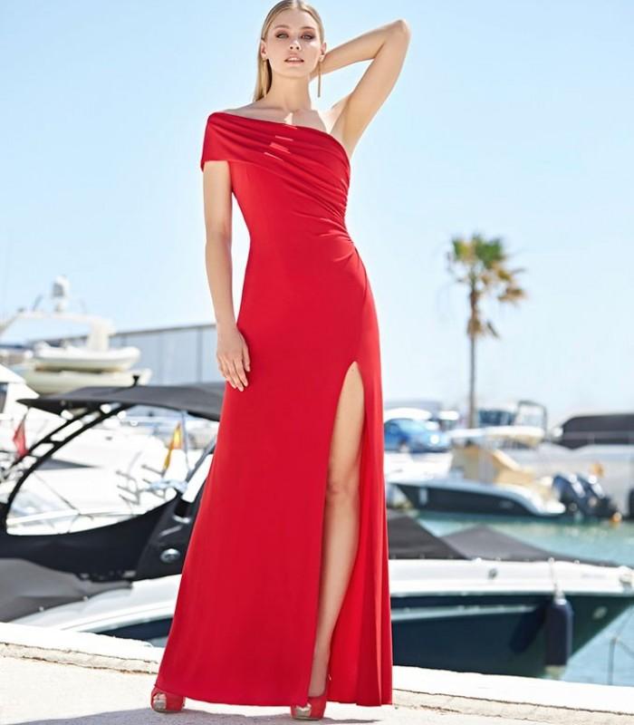 Marbella long dress with side slit