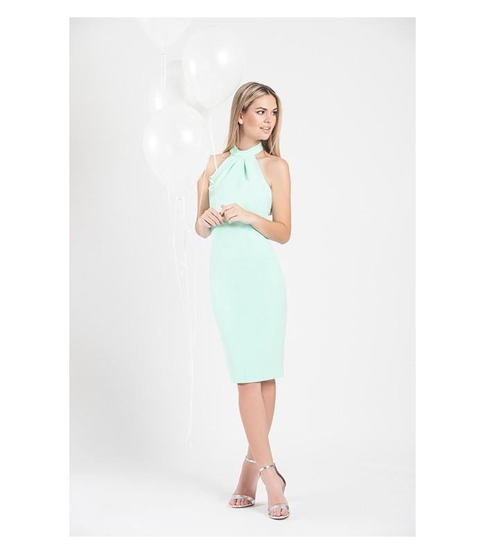 Halter  Plain Dress