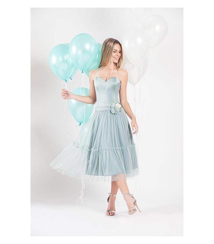 Midi pleated dress