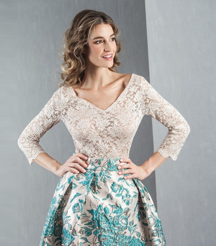 Lace top with transparency