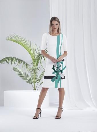 Straight evasé dress
