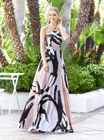 Long printed dress Marbella sleeveless