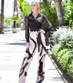 Set Marbella blouse, top and printed long pants
