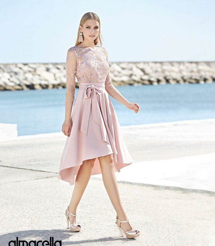 Marbella set embroidered top, inner top and ruffled skirt