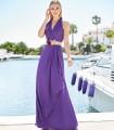 Vestido largo Marbella sin mangas con escote en V