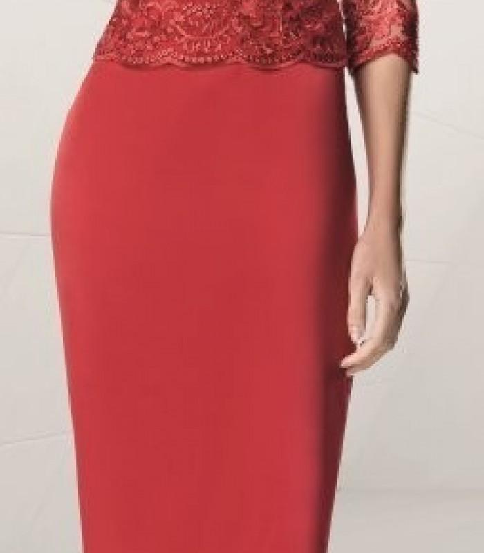 Sonia Peña short red lace dress
