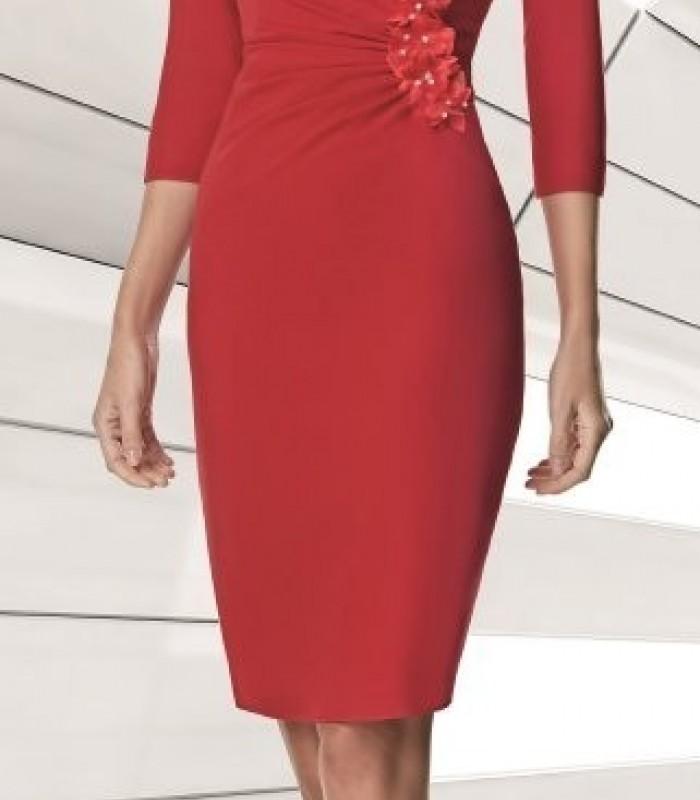 Embellished waist short dress
